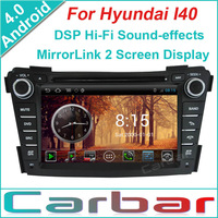 2014 Android 4.0 OS Car DVD GPS Player for Hyundai I40 Dual Core 1GHZ CPU 512MB DDR3 3G Wifi DVR 1080P Russian Menu