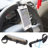 Universal spin Car cell mobile phone Holder Bracket stands for All iPhone GPS suporte do telefone basamento del telefono