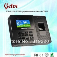 Express Free shipping !Realand  2.8inch color screen fingerprint time clcok  time attendance A-C010T