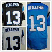 Kelvin Benjamin Jersey Elite Stitched White Black Blue Carolina Football Jerseys(China (Mainland))