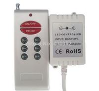 4set/lot Wireless DC 12V / 24V RGB RF LED Remote Controller 8 KEYS , 72W for smd led strip
