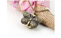 Vintage pocket watch fashion watch wholesale Korean retro spot meter butterfly necklace