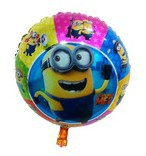 "2014 NEW! Two Eyes Despicable Minion2 Balloon 18"" Round Shaped Balloon Wholesales"