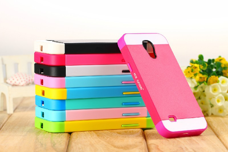 1 Pcs New Popular Fashion Multicolor TPU Body Case & PC Frame Cover For Samsung Galaxy S4 SIV mini i9190 Back Cell phone case(China (Mainland))
