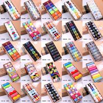 Factory Direct Sales Promotion !15 styels 7days week socks meias brand bulk cheap socks cotton sports socks 14pcs=7pairs/lot(China (Mainland))
