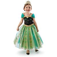 Frozen anna frozen dress kids vestido de festa longo 2014 vestido frozen vestidos de festa para menina FREE SHIPPING