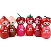 Lingmei Fruit Princess Fashion Cute 6 Colors Moisture Bright Lip Gloss 6 Pcs In One Package Free Shipping