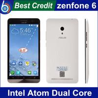 "Free shipping Original ZenFone 6 Intel Z2580 Dual Core 2.0GHz Android 4.3 Smart Phone 6.0"" IPS Screen 2GB RAM 16GB ROM"
