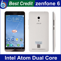 "Free shipping Original ZenFone 6 Intel Z2580 Dual Core 2.0GHz Android 4.3 Smart Phone 6.0"" IPS Screen 2GB RAM 16GB ROM"