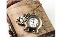 Cute elephant pocket watch necklace watch watch wholesale wholesale Guangzhou City