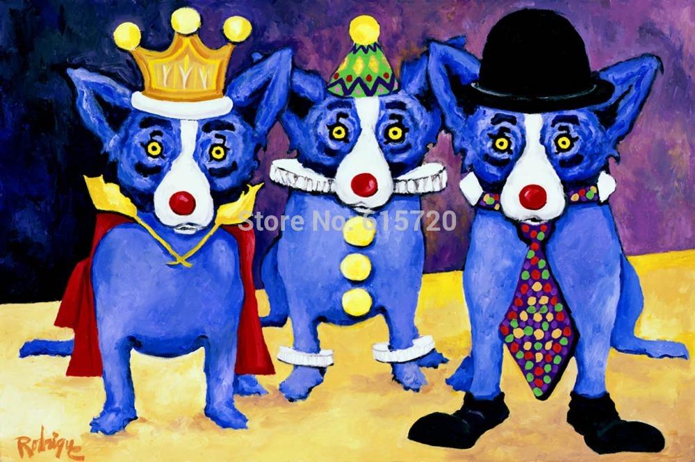 Painting Blue Dog Blue Dog Oil Painting i
