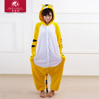 eshop Yellow Tiger Kigurumi Pajamas adult animal onesies Unisex Cosplay Costume halloween costumes for women party Sleepwear