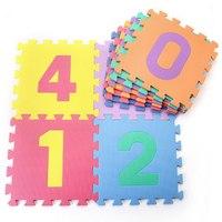 F311 MEITOKU 10Pcs Best Quality Environmentally EVA Foam Digital Numbers 3D Puzzle Floor Mat Baby Crawl Play Toys Rug 30*30*1cm
