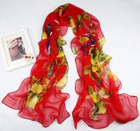 New Fashion Women's Soft Long Floral scarf wrap shawl     sf1024
