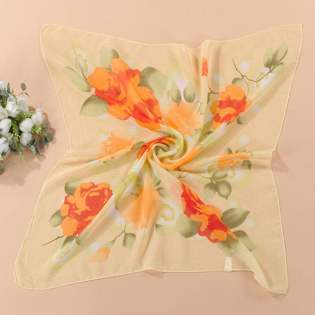 new arrival 2014 women spring and summer 60*60 small Faux chiffon silk scarf square kerchief(China (Mainland))