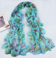 Beautiful New Floral  Chiffon Scarf Wraps Shawl Soft Scarves   sf1030