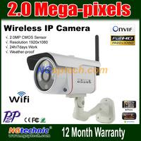 Waterproof  2MP(1920x1080) full-HD Wireless IP Camera 1080P wifi network IR Night vision support smart phone iphone internet