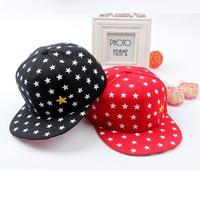 Free Shipping Fashion New 2014 Brand Children Stars Print Snapback Baseball Hats Baby Caps Boy&Girls Sun-Shading Kids Cap XHM010