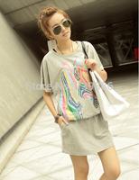 YT065,New 2014 Brand New  Women Summer Dress Fashion Korean Dress Horse Lady  Dresses Free Shipping