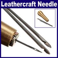 2 set/Lot _ Canvas Leather Tent Sewing Hand Stitcher Leathercraft Needle Kit Tool