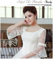 Luxury Princess Wedding dress, ball gown, princess style,floor length,bridal dress with medium length sleeve