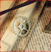1a  cog wheel design  diy necklace bracelet component 60pcs/lot  25MM pendants alloy  lucky Charms  Jewelry Findings