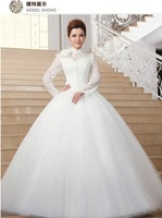 Luxury Princess Wedding dress, ball gown, princess style,floor length,bridal dress with long sleeves