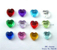 Mix Min Order $10 60pcs 5mm Mix Color Heart Birthstone Floating charms for Living Memory Floating locket