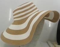 Women Large brimmed hat 2014 Fashion Hot sun hat straw beach cap Drop Shipping Free Shipping