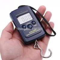 40Kg /10g Digital Hanging Luggage Fishing Pocket Weight Scale Kg Lb OZ (No Backlight)