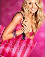 High Quality Red Striped Diamond VS Brand Canvas Women Handbag Shoulder Bag Beach Bag Fashion 52(W)*32(H)*14(T)cm