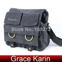 Free Shipping High Quality Padded Cotton Canvas Photography Camera SLR Bag AL08 Shoulder Bag AL08 BG791