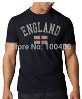 England Vintage Country T-Shirt, Navy Blue New Fashion Men's T Shirts Design shirts Printed Cotton shirts Free shipping