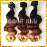 Ombre Hair Extensions 3 three tone 1b#/4#/27# Ombre Peruvian Hair Virgin Human Hair Weave Wavy Body Wave Rosa Hair Products