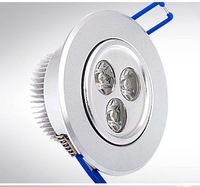 Recessed 3W LED Downlight Light Ceiling Lamp Dimmable Dimming Cool   Warm White 200V-240V + LED Driver by Express 50pcs/lot