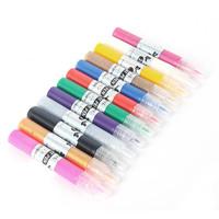 12 Color 3D DIY Drawing Paint Painting Pen Design UV Gel Acrylic Nail Art Tips drop& free shipping