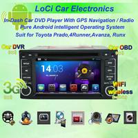Toyota Avanza, Land Cruiser 100 Prado 4Runner RunX Android multimedia DVD player gps navigation+ Free shipping