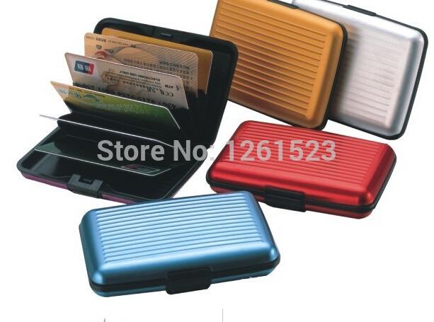 As seen on tv aluma wallet aluminum card and ID holder ,card drawing(China (Mainland))