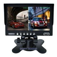 "Free shipping ! 7"" Quad Display Colour Monitor For Car Reversing Camera / DC 12-24v"