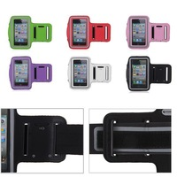 Free Shipping Sports Running Jogging Gym Armband Arm Band Case Cover Holder for iPhone 4 4S 4G