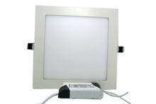 Free Fedex 30pcs lot AC86 265V 9W square led pane ceiling lamp down light with led