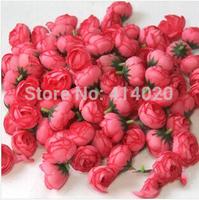 500pcs/bag 3CM*2.3CM Diameter Silk Rose Flower Head Handmade Diy Wedding Car Decoration Flower