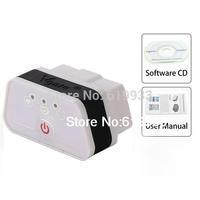 Super Mini iCar2 Vehicle Wi Fi OBD II Code Diagnostic Tool / Clearer Black + White