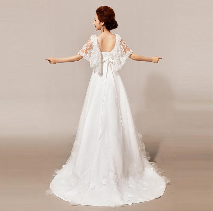 il pizzo stomacher abiti da sposa di cristallo prezzo di fabbrica 2014 nuova spedizione gratis una linea fidanzata bordare abiti da sposa bianco
