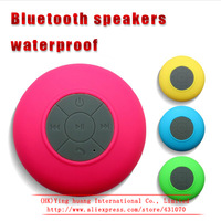 10pcs New 2014 Mini Ultra Portable Waterproof Stereo Wireless Bluetooth Speaker Handsfree with Suction Cup for bests speaker