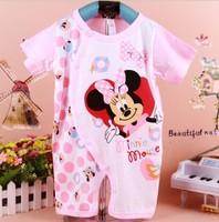 newborn hoodies baby clothes 100% cotton cartoon baby romper cute romper baby body suit Cartoon short sleeve
