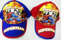 100pcs/Lot Free Shipping ! New Arrival Super Man Visors Cap Cartoon Children's Hats Sun Caps Summer Beret Cap A3337 Wholesale
