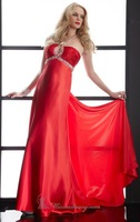 Hot Sell ! Long Halter Satin Designer Sexy Evening Dress, Wedding Party Dress Detailed with Shining Beads and Jewels