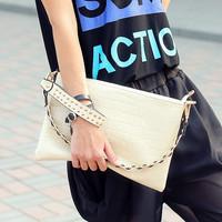 Cat bag 2014 vintage fashion crocodile pattern envelope bag shoulder bag handbag clutch women's day m51-015