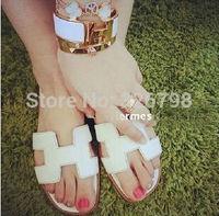 New summer sandals women flat slippers, women 's flat sandals h slippers, Roman fashion ladies sandals, flip flops free shipping